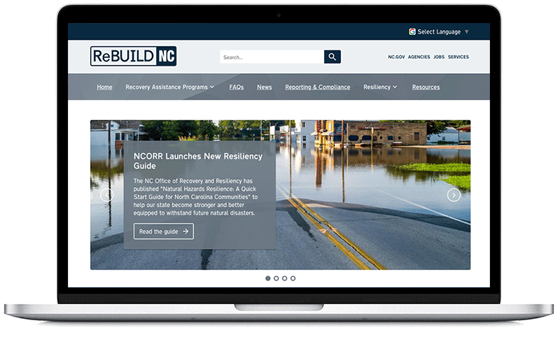 Rebuild NC website on laptop