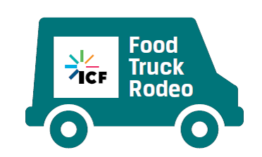 Food Truck with the ICF logo on the side