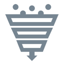 icon showing collection funnel