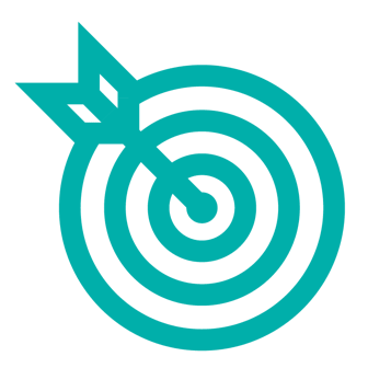 bullseye icon light teal
