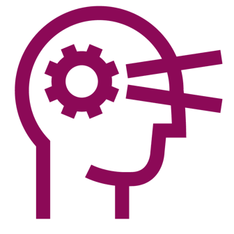 see-think icon dark magenta