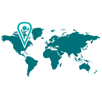 world map icon dark teal