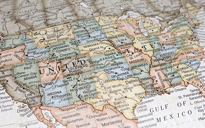 state and local united states map