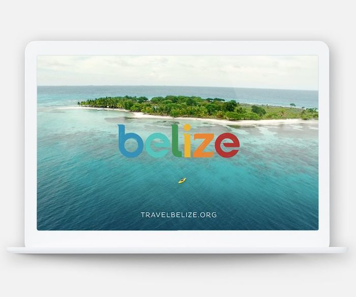 Picture of Belize water on desktop