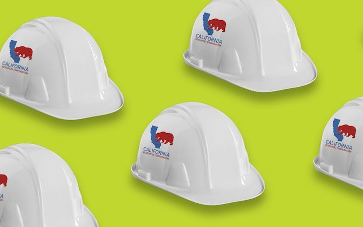 California Resources Corporation hard hats green background