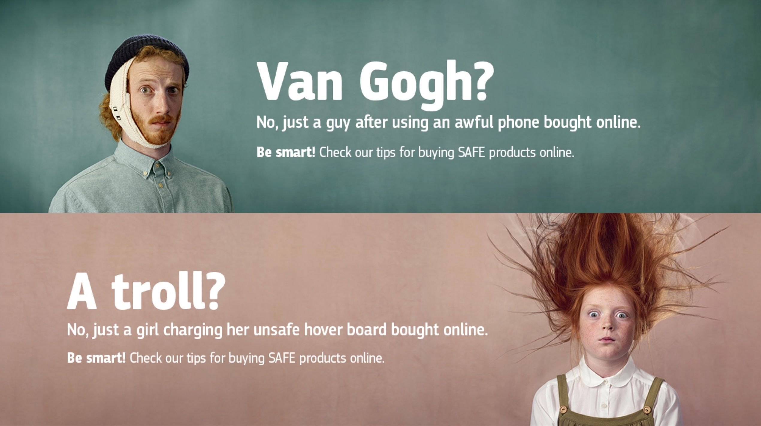 european commission product safety ads van gogh troll